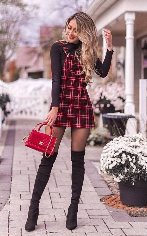 How To Wear Dress And Over The Knee Boots: My Favorite Street Looks 2020