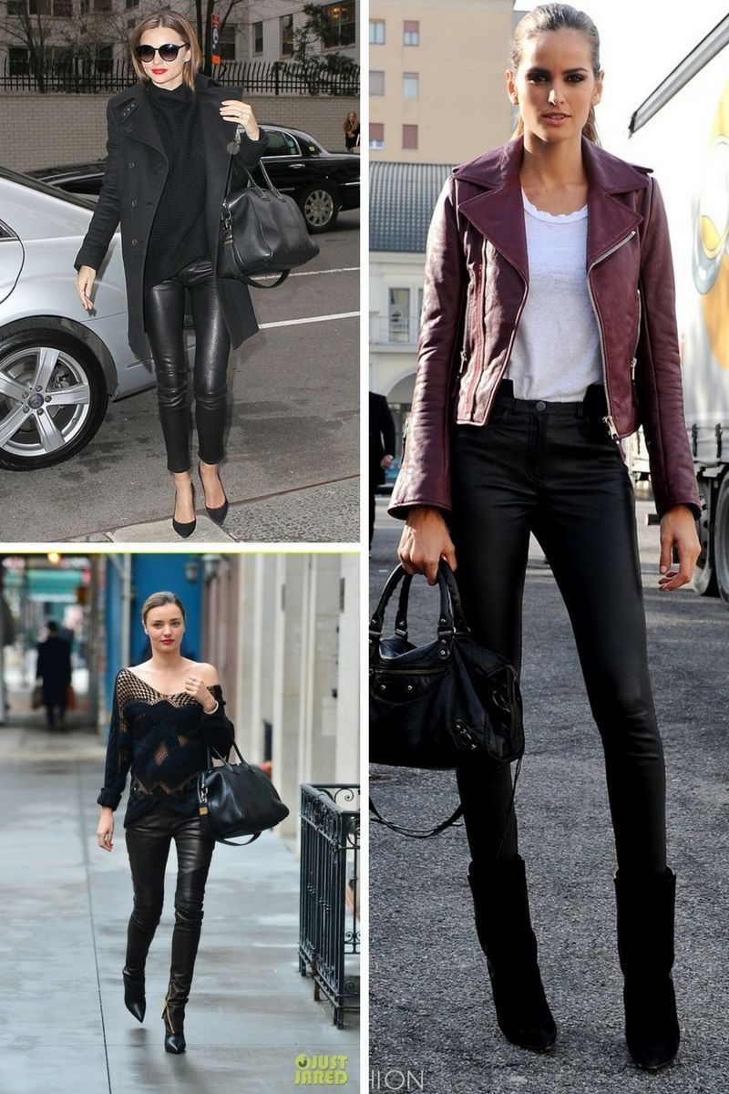 How To Style Black Leather Pants For Women 2020