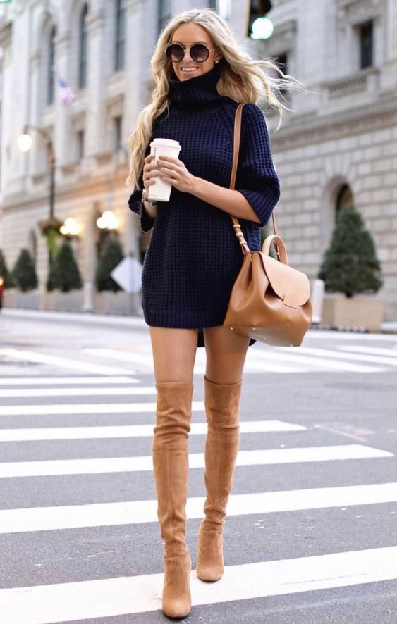 34 Sweater Dress Outfit Ideas That Are Still Trendy 2020
