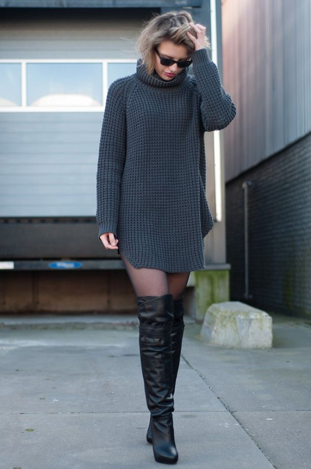 34 Sweater Dress Outfit Ideas That Are Still Trendy 2019
