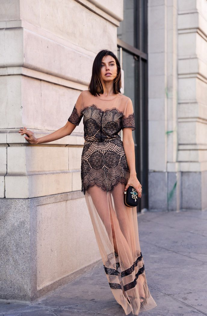 What Shoes To Wear With Lace Dresses 36 Inspiring Street Style Ideas 2019