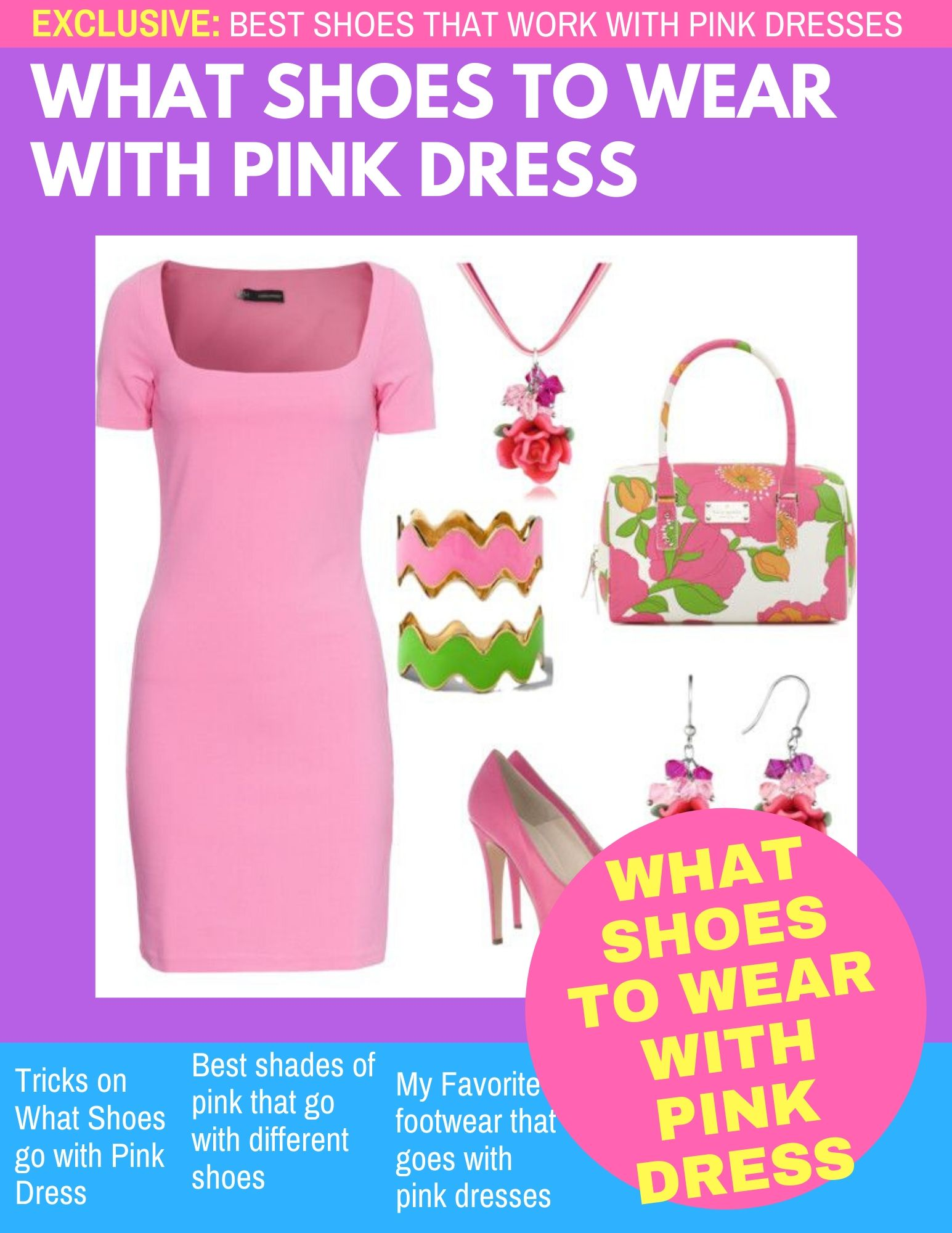 What Shoes To Wear With Pink Dress 38