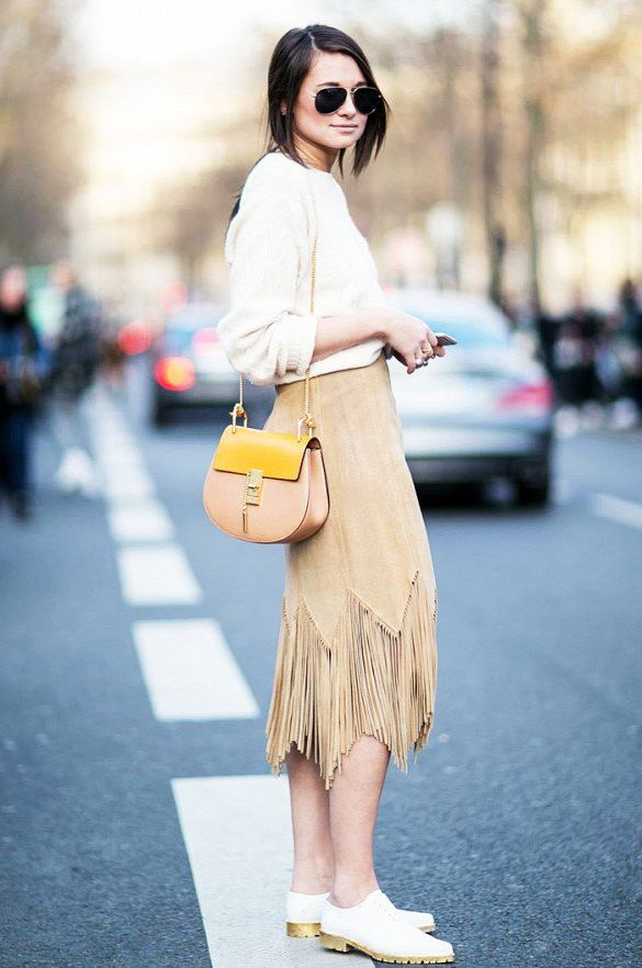 Suede Skirts Best Looks To Copy 2021