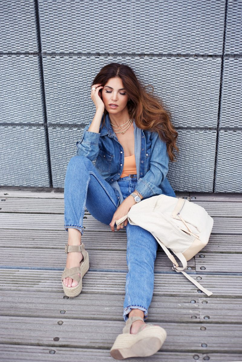 How Does Negin Mirsalehi Wearing Denim Trend 2020