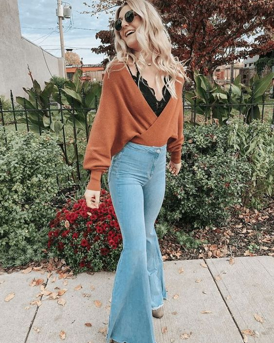 How To Style Your Flared Jeans: Best Street Style Ideas 2020