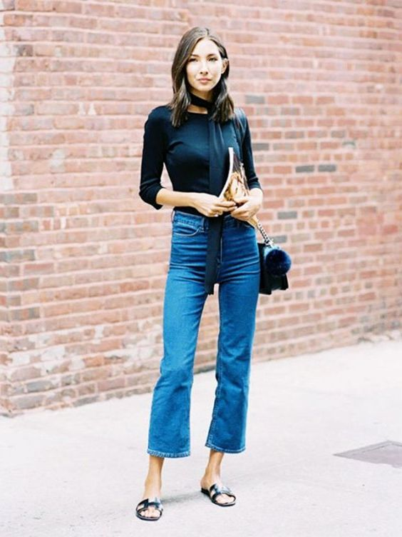 How To Style Your Flared Jeans: Best Street Style Ideas 2019
