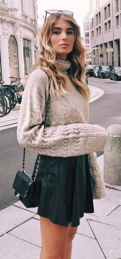 How To Wear Skirts With Sweaters This Winter 2021