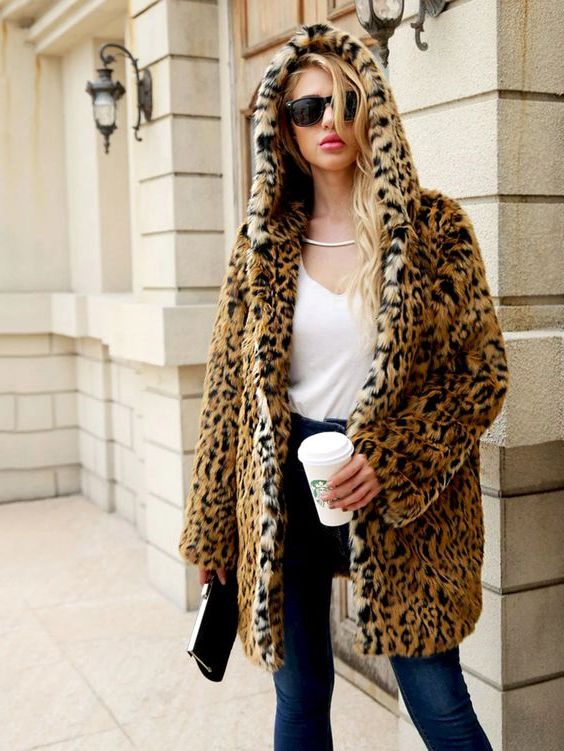 Leopard Coats For Ladies: Wild Outerwear For Winter 2019