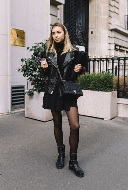 10 Powerful Looks With Biker Boots 2020
