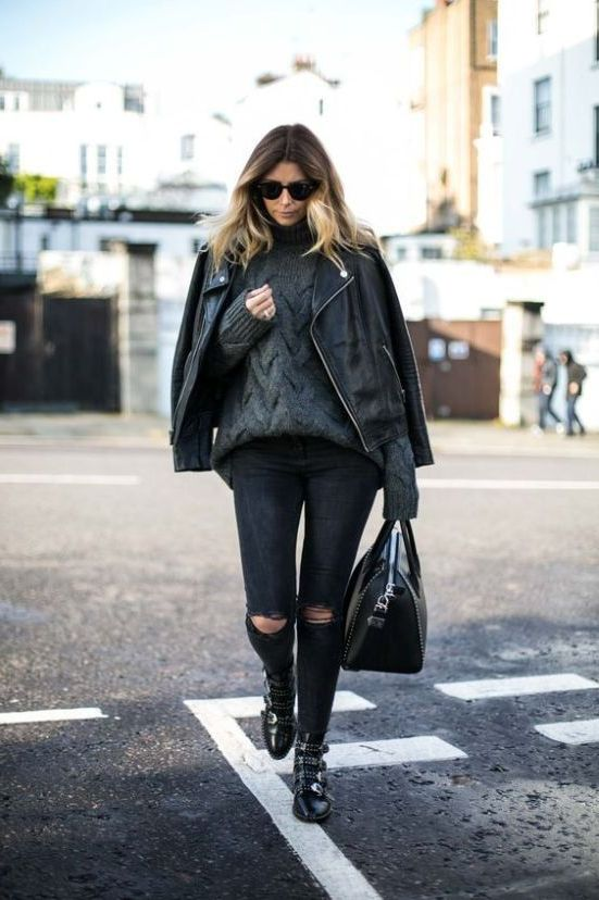 10 Powerful Looks With Biker Boots 2021