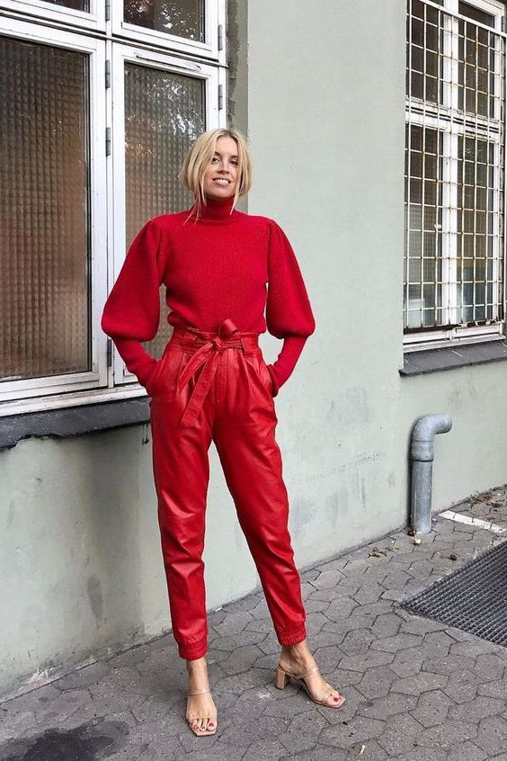 12 Easy Ways To Style Leather Paper Bag Waist Pants 2020
