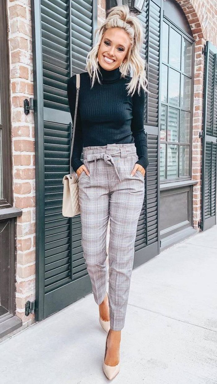 9 Simple Ways How To Style Plaid Pants For Women 2019