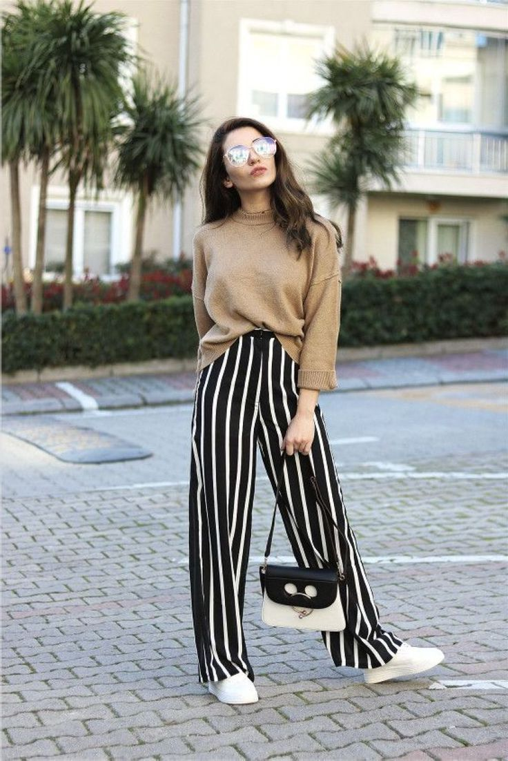 21 Amazing Outfits With Wide Leg Pants For Women 2020