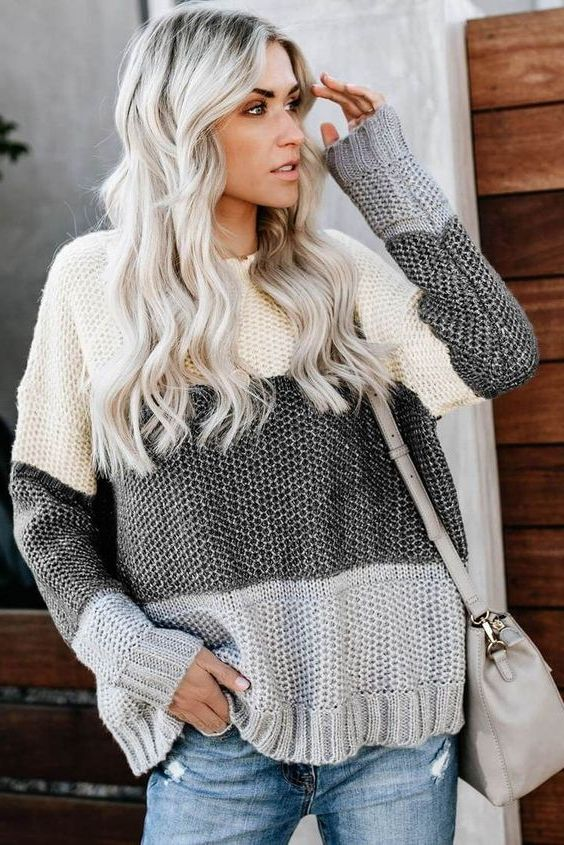 Inspiring Street Style: Color Block Sweaters For Women 2021