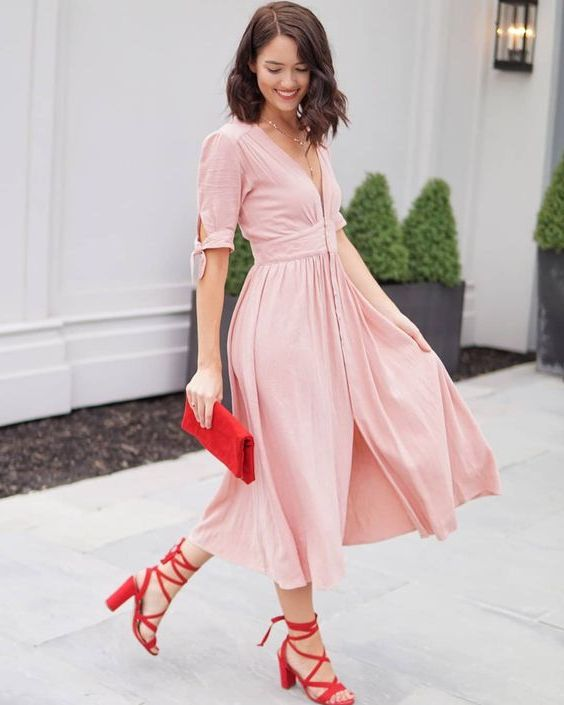 My Favorite 13 Color Shoes I Can Wear With Pink Dresses 2020