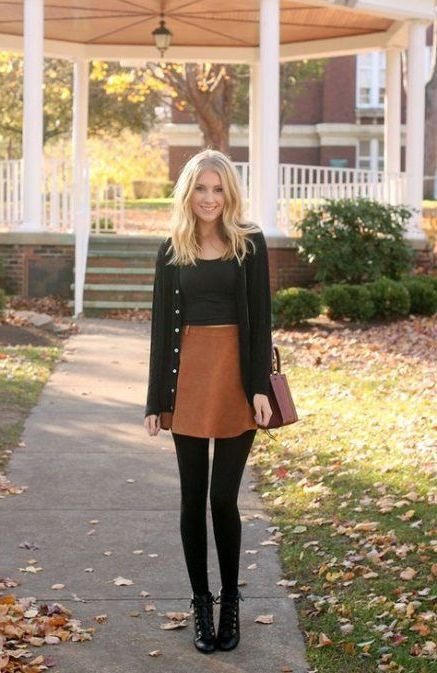 24 Suede Skirt Looks For Women 2021