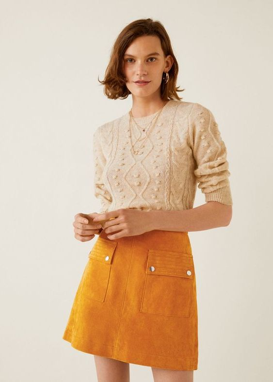 24 Suede Skirt Looks For Women 2020