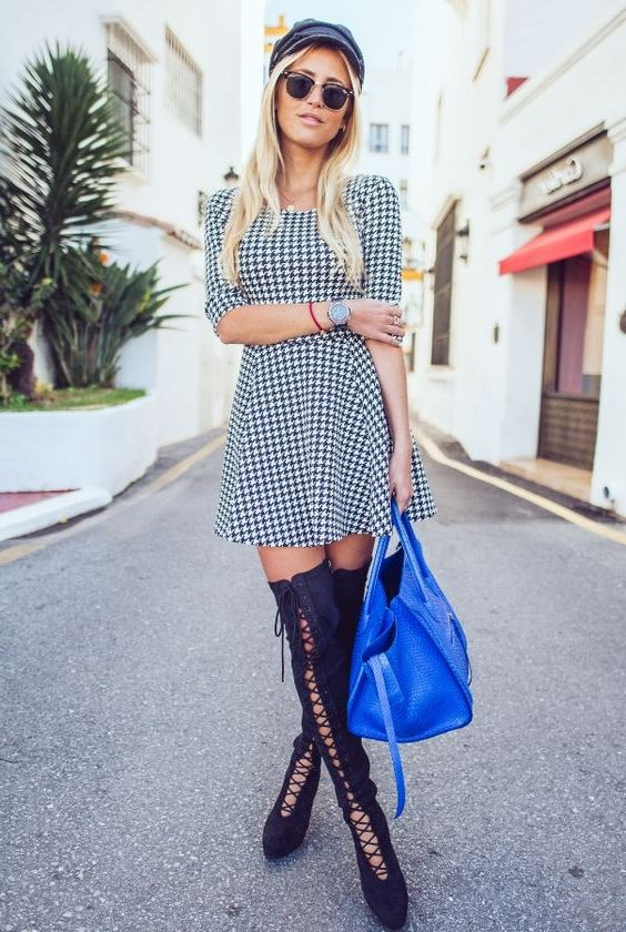 33 New Ways How To Wear Houndstooth Print For Women 2020