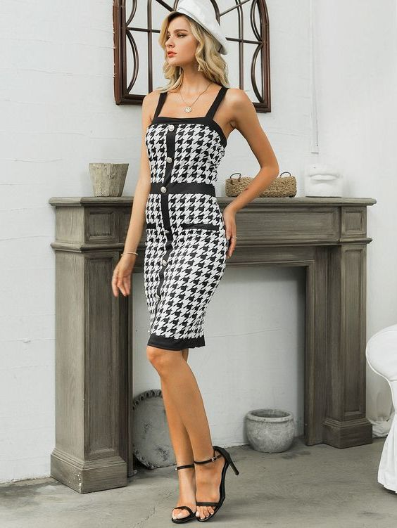 33 New Ways How To Wear Houndstooth Print For Women 2021