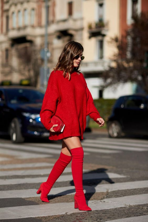 New And Powerful Red Outfit Ideas For Women 2020