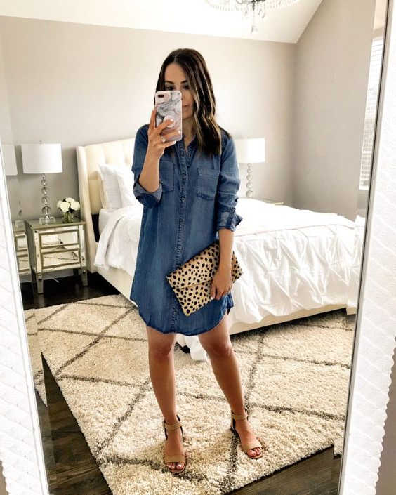 31 Stunning Denim Dresses You Should Try This Year 2020