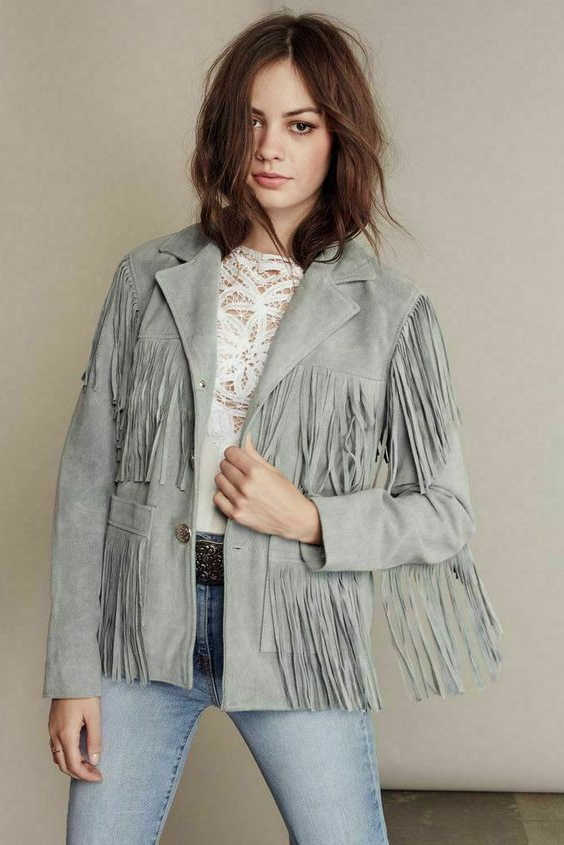 24 Outfit Ideas With Fringed Jackets 2021